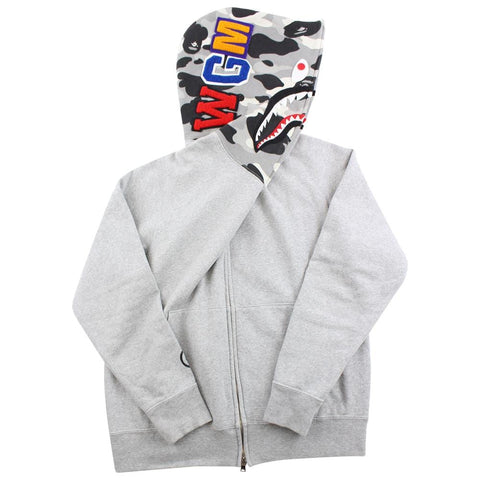 Bape Grey Camo Half Face Shark Grey - SaruGeneral