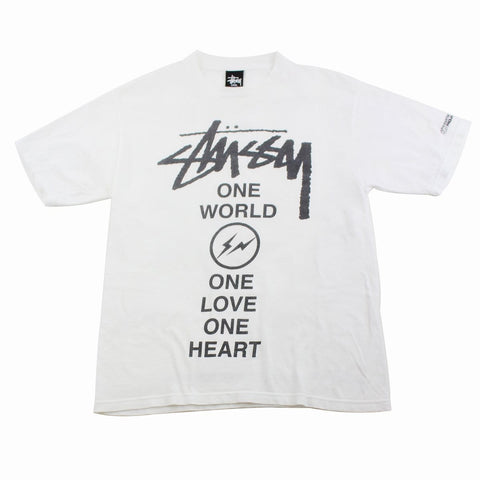 Stussy x Fragment One Love logo Tee White - SaruGeneral