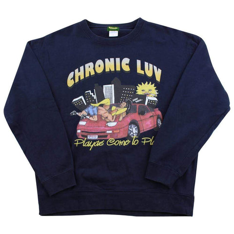 Chronic Luv Playas Crewneck Navy - SaruGeneral