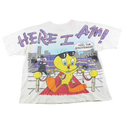 Looney Tunes Here I Am Tweety Pie Tee White - SaruGeneral