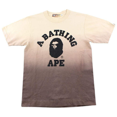 Bape College Logo Gradient Tee tan - SaruGeneral