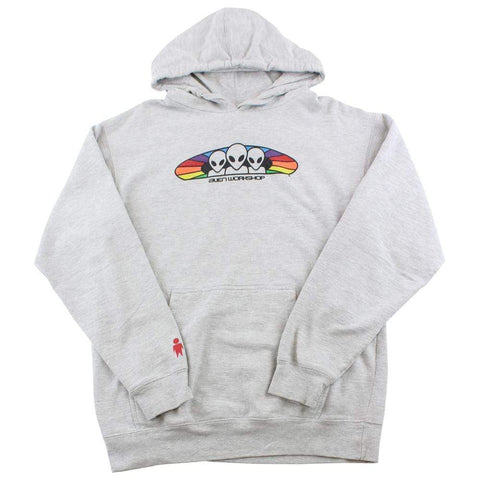 Alien Workshop Multi Colour Logo Hoodie Grey - SaruGeneral