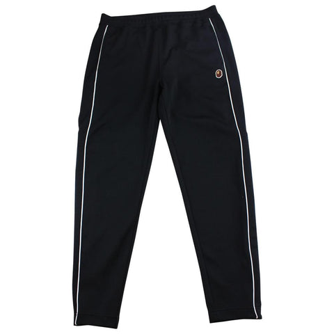 Bape point Head Logo Side Stripe Joggers Black - SaruGeneral