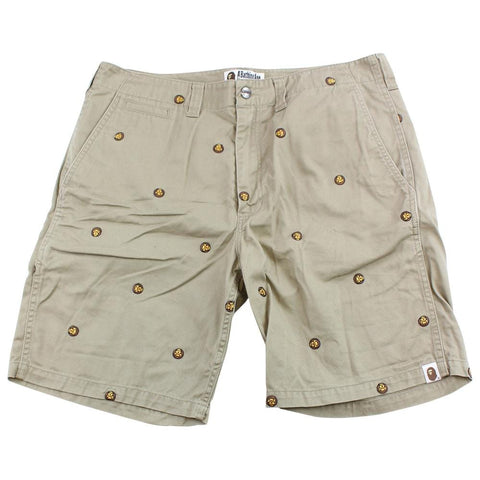Bape Baby Milo Allover Shorts Tan - SaruGeneral