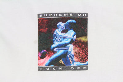 Supreme or Fuck Off Tee White - SaruGeneral