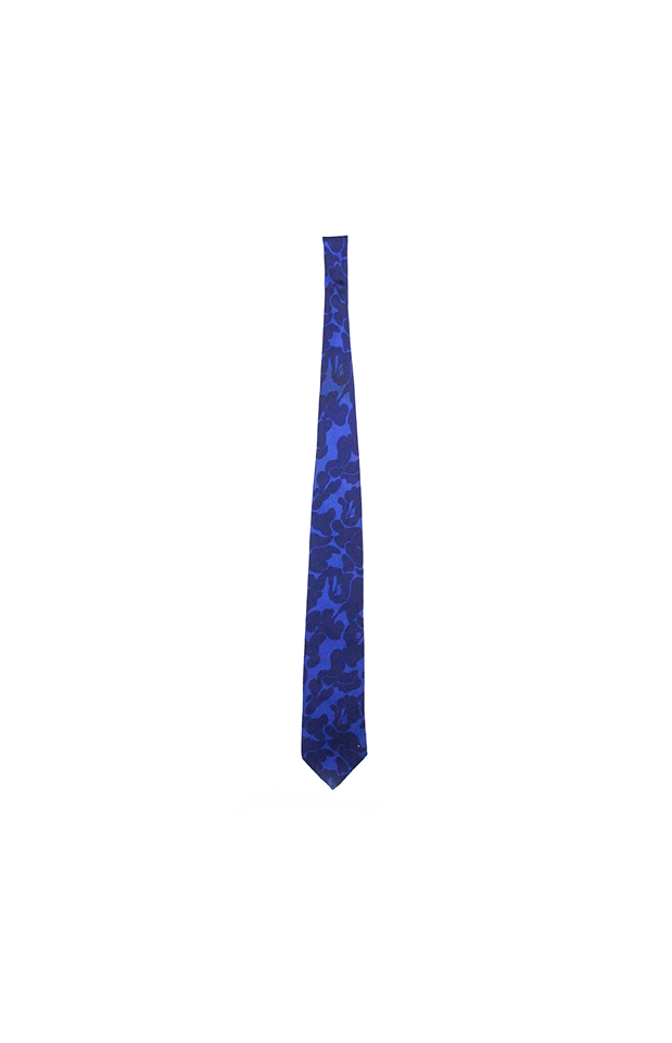 Mr Bathing Ape Dark Blue Camo Tie - SaruGeneral