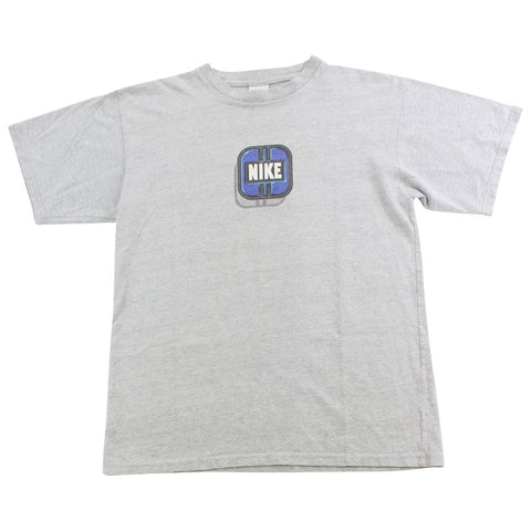 Nike Blue Square Graphic Tee Grey