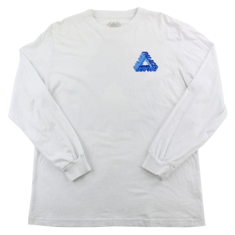 Palace Blue Text Triferg LS White