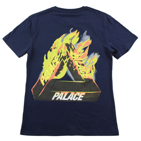 Palace Flaming Triferg Logo Tee Navy