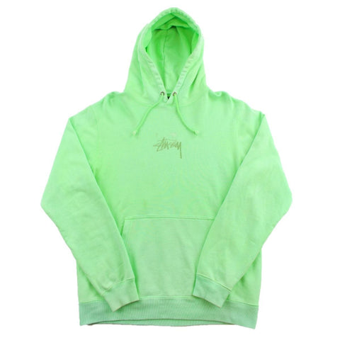 Stussy Logo Pullover Hoodie Lime Green
