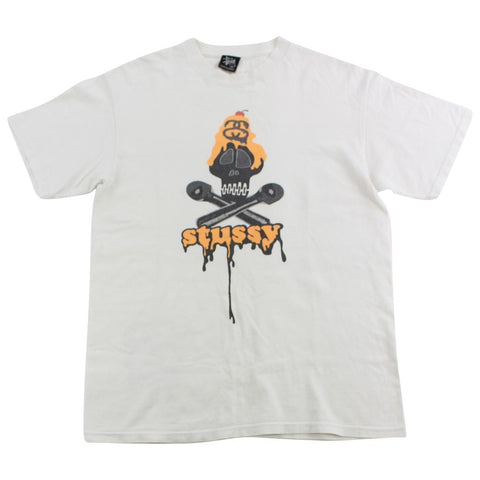 Stussy Skull Icecream Tee White