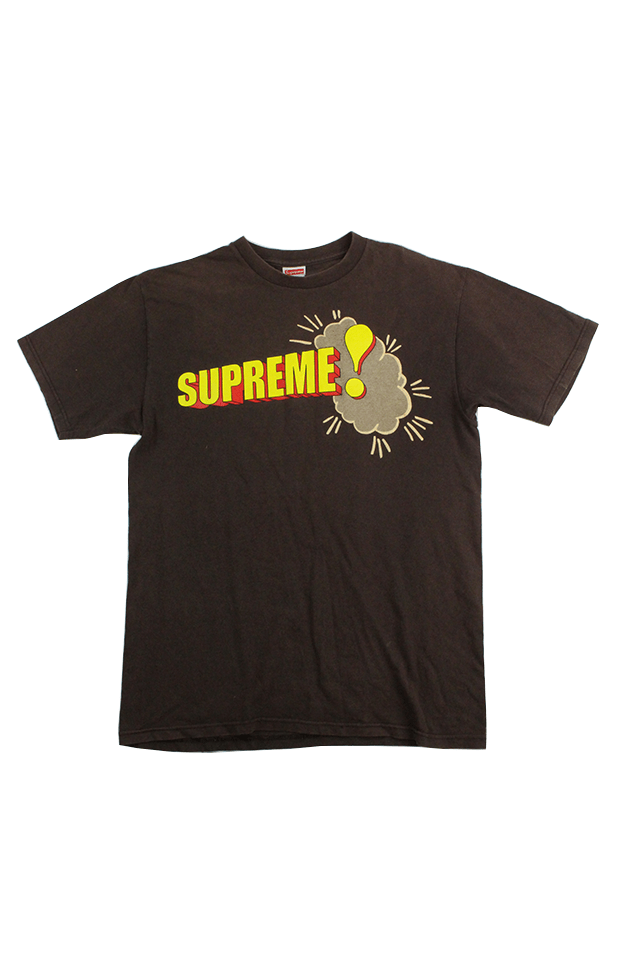Supreme Comic Text Tee Brown