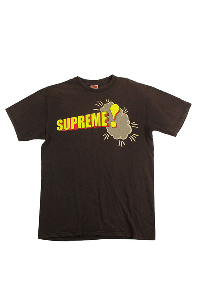 Supreme Comic Text Tee Brown - SaruGeneral