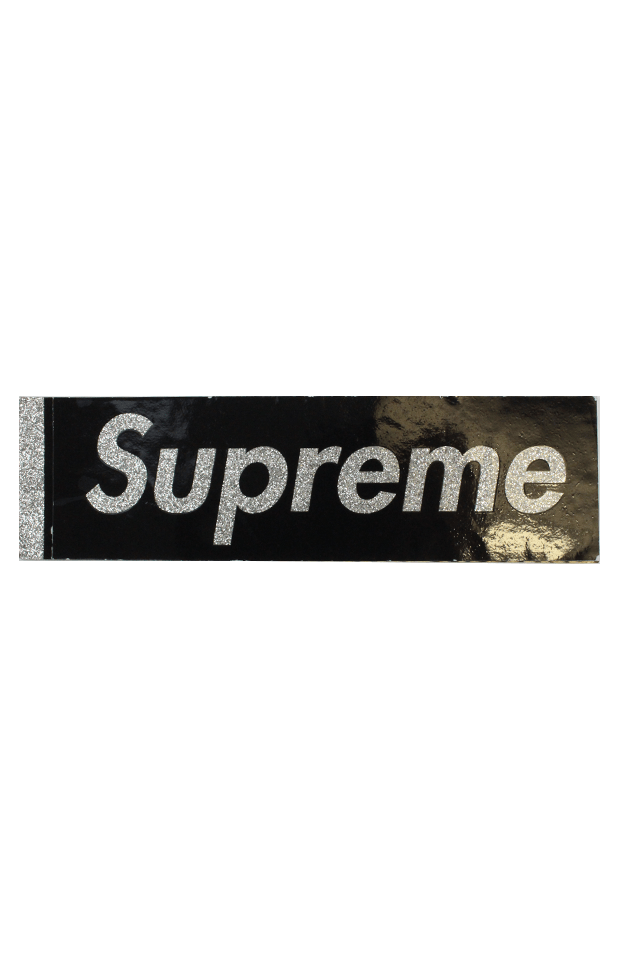 Supreme Glitter Box Logo Sticker Black