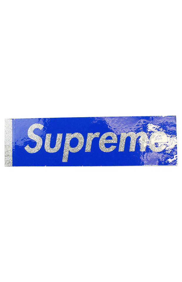 Supreme Glitter Box Logo Sticker Blue