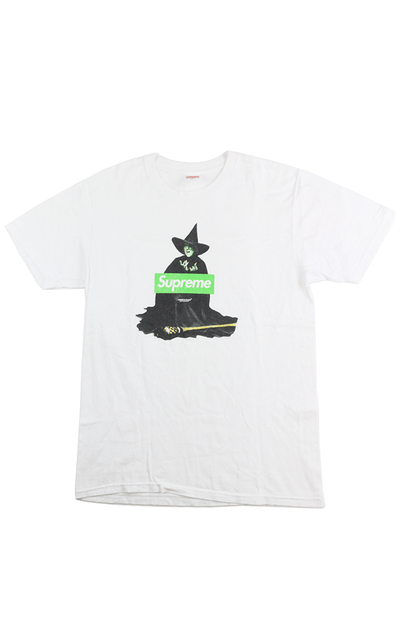 Supreme Green Box Logo Witch Tee White - SaruGeneral