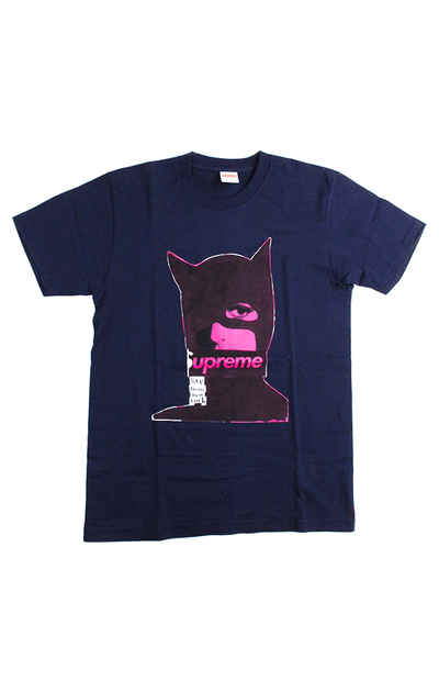 Supreme Pink Catwoman tee navy