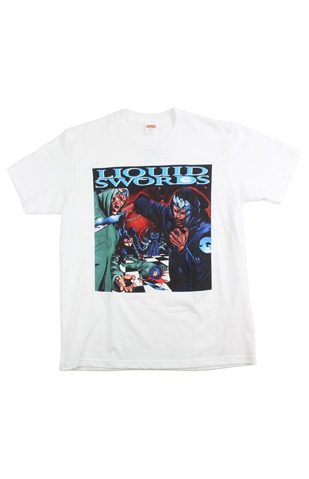 Supreme Liquid Swords Tee White - SaruGeneral