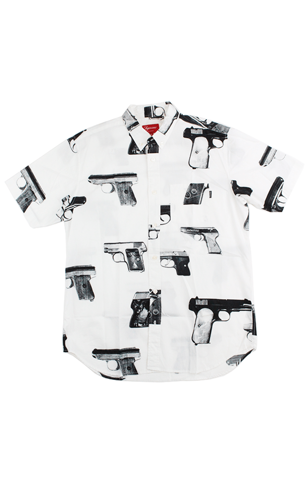 Supreme Black Guns Shirt White