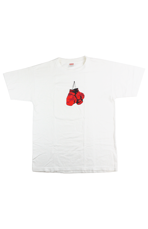 Supreme Boxing Gloves Tee White 1998 - SaruGeneral