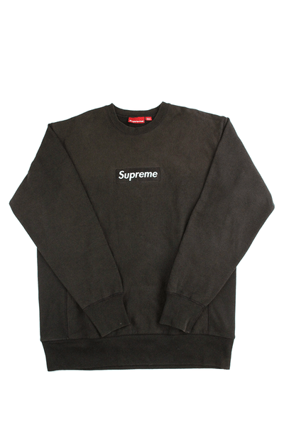 Supreme Brown Box Logo Crewneck Brown