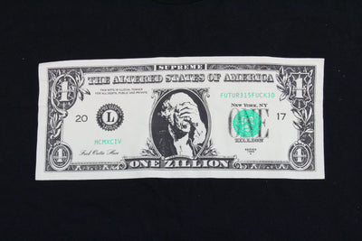 Supreme Dollar Bill Tee Black - SaruGeneral