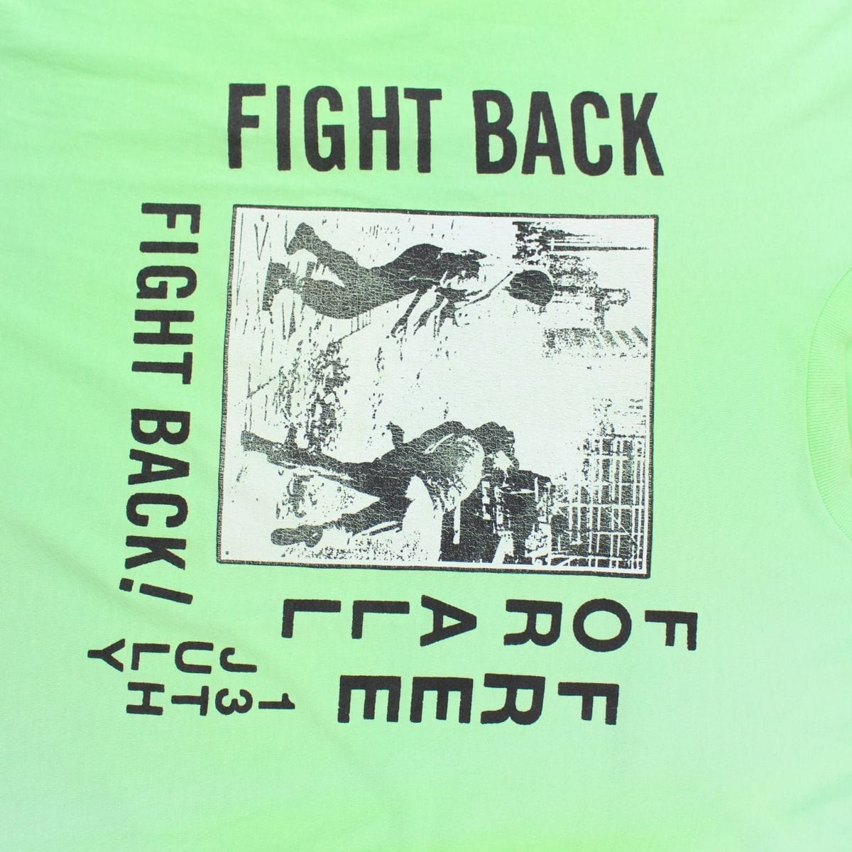 Supreme Fight Back Tee Green - SaruGeneral