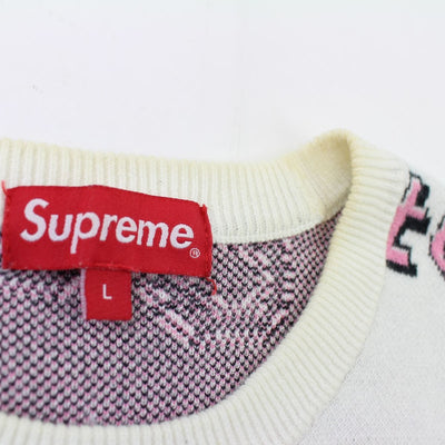 Supreme Hate Crewneck White - SaruGeneral