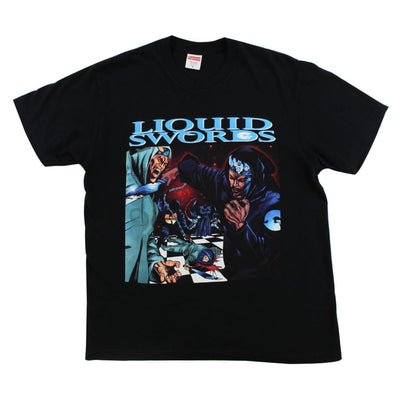 Supreme Liquid Swords Tee Black - SaruGeneral