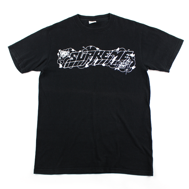 Supreme Live in Full Effect graffiti Tee Black - SaruGeneral