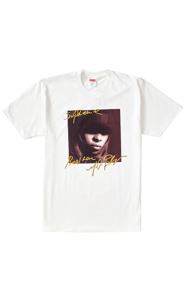 Supreme Mary J Blige Real Love Tee White - SaruGeneral