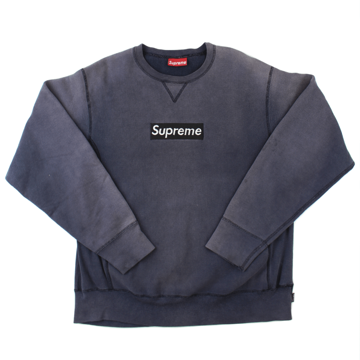 Supreme Navy on Navy 1997 Box Logo Crew - SaruGeneral