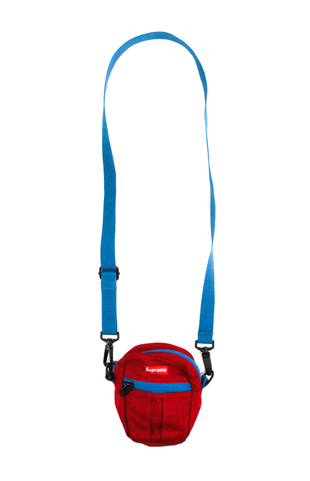 Supreme Red Blue Hip Bag