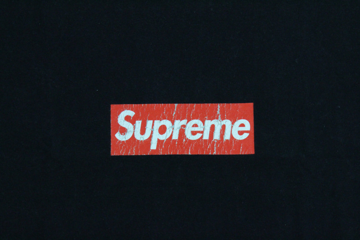 Supreme Red Box Logo Tee Black - SaruGeneral