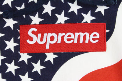 Supreme Red Box Logo USA Hoodie