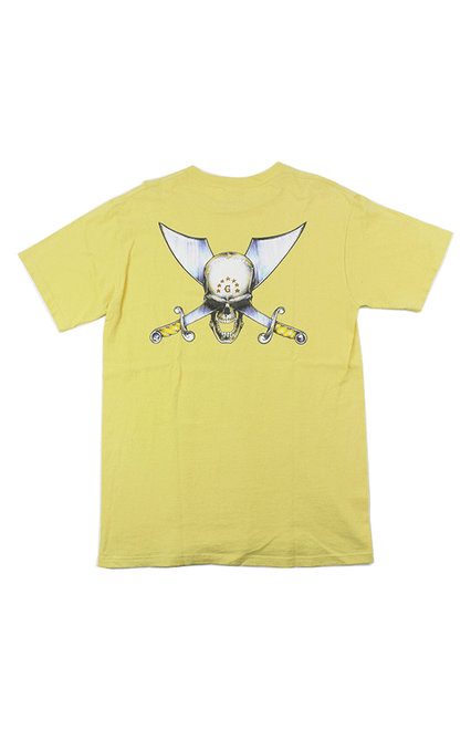 Supreme Skull and Sword Tee Yellow - SaruGeneral