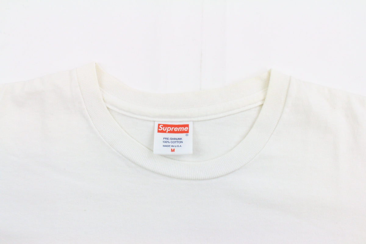 Supreme Smash hulk Pink & Yellow Tee White - SaruGeneral