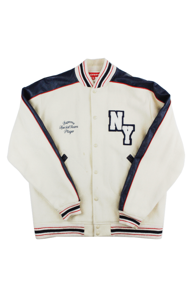 Supreme Special Teams Player Varsity Jacket Tan - SaruGeneral