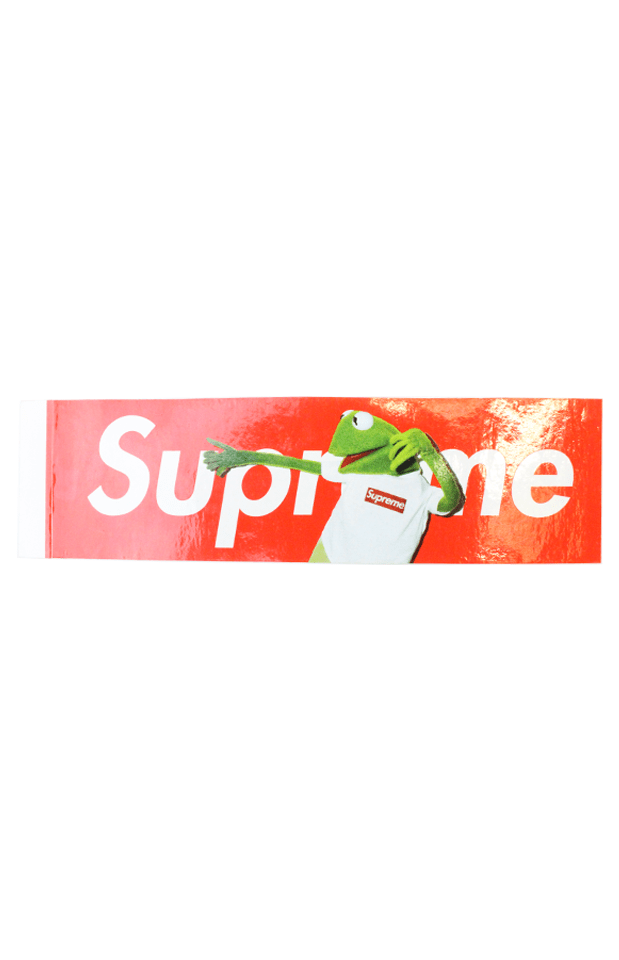 Supreme Kermit Box Logo Sticker - SaruGeneral