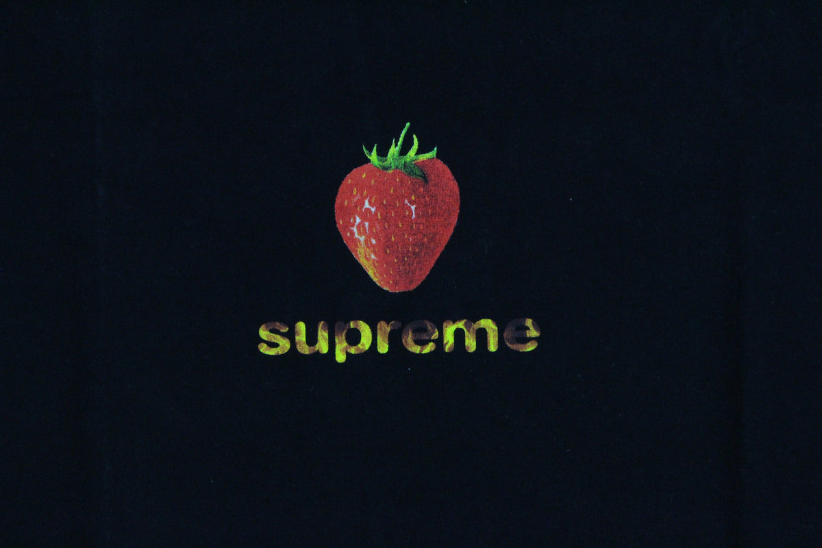 Supreme Strawberry Tee Black - SaruGeneral