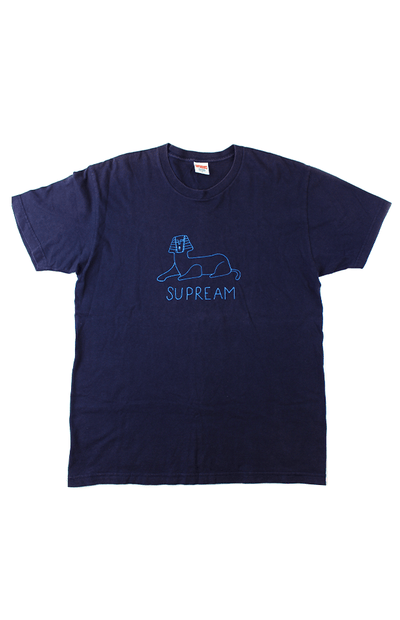 Supreme Supream Blue Sphinx Tee Navy - SaruGeneral