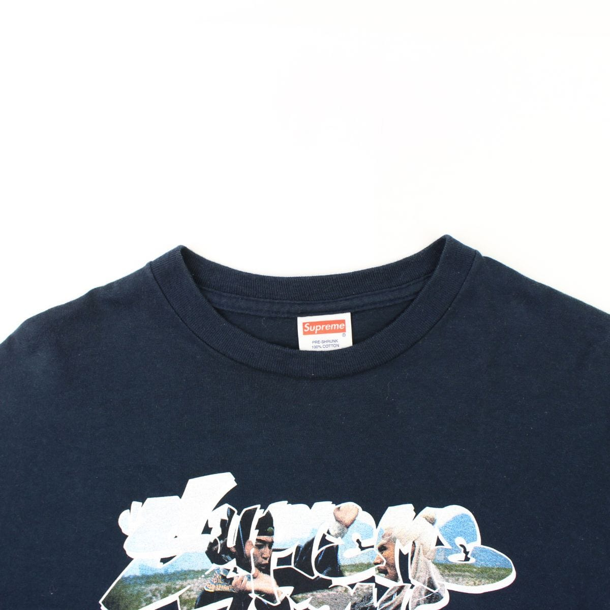 Supreme Team Text Tee Navy - SaruGeneral