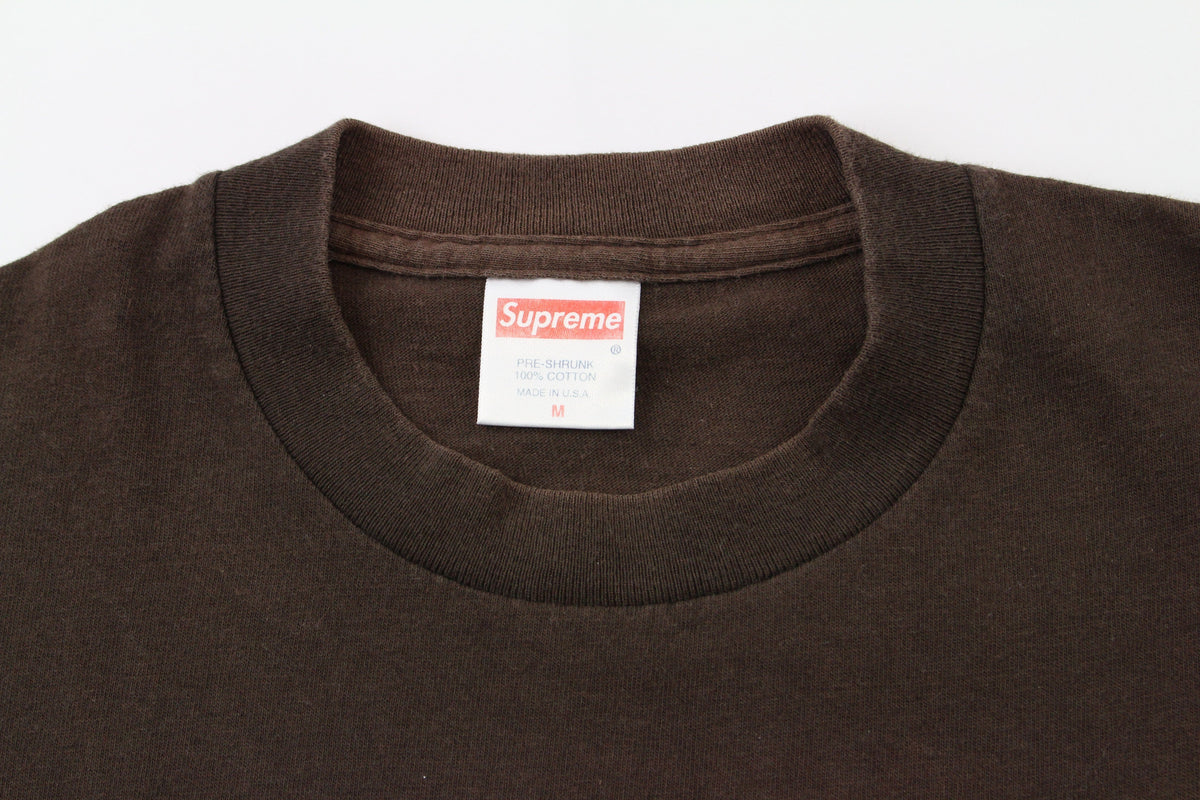 Supreme 9/11 USA box logo tee brown - SaruGeneral