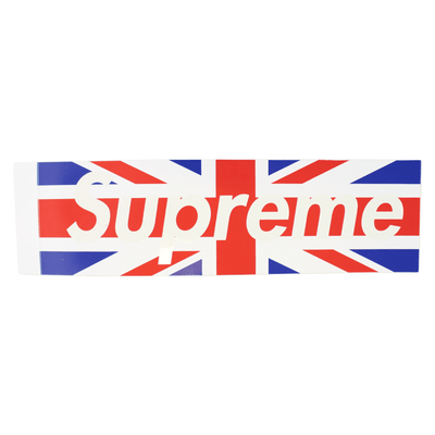 Supreme Union Jack Flag Box Logo Sticker - SaruGeneral