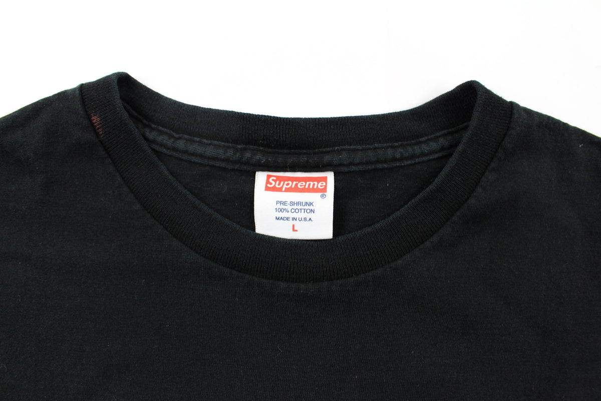 Supreme dillusional White Text Tee Black - SaruGeneral