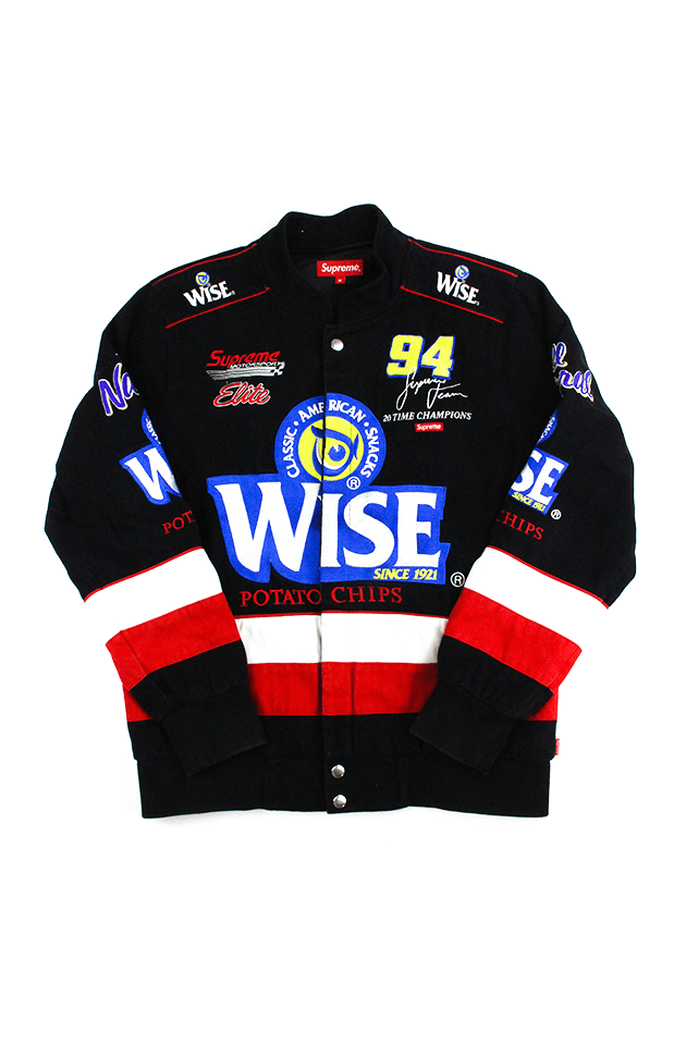 Supreme Wise Racing Jacket Black - SaruGeneral