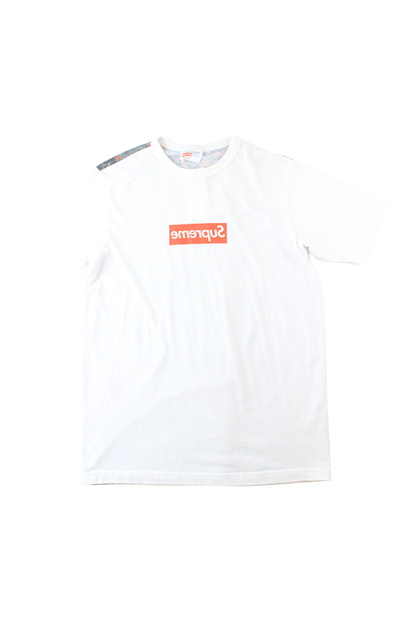 Supreme x CDG Box Logo back digicamo Tee White - SaruGeneral