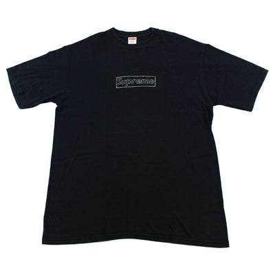 Supreme x Kaws Box Logo Tee Black