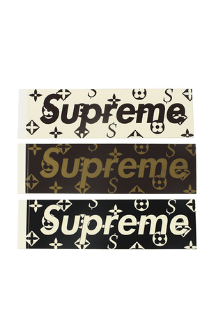 Supreme x LV Box Logo Stickers - SaruGeneral
