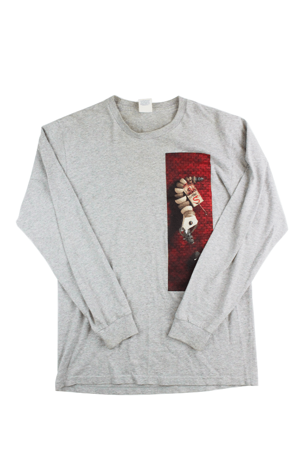 Supreme x Mike Hill LS Grey - SaruGeneral